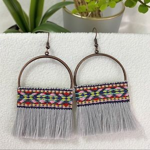 NEW Tribe African Fringe Brush Tassel Earrings